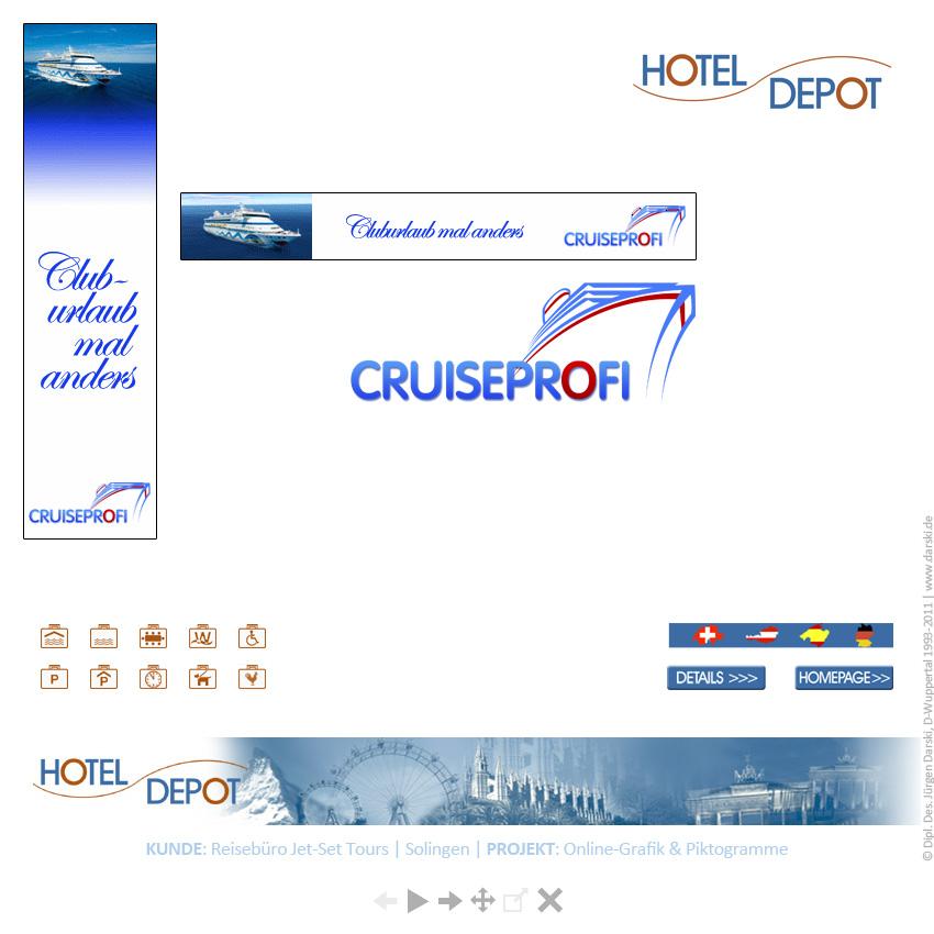 Referenz-Kunde Hotel-Depot: Corporate Design, Webdesign